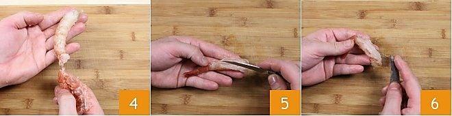 Come pulire i gamberi