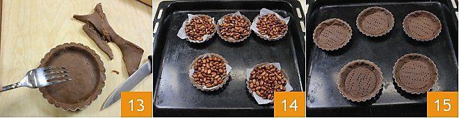 Crostatine al Nesquik con pere caramellate