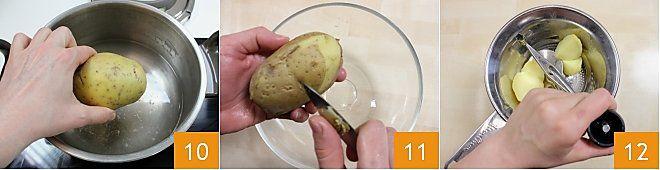 Coppette di pasta fillo con patate e briciole di salame