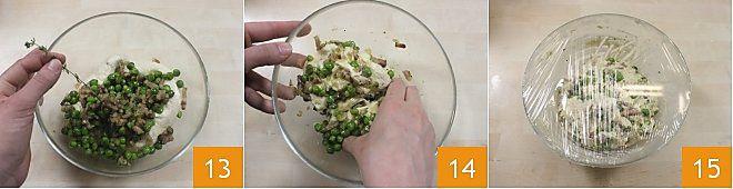 Scones salati ai piselli e pancetta