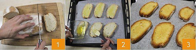 Tris di bruschette