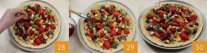 Pizza dolce alla frutta