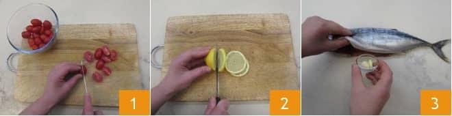 Palamita al cartoccio con pomodorini