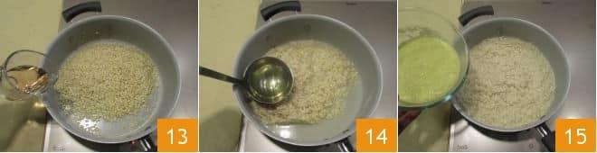 Risotto alla melagrana e crema di porri