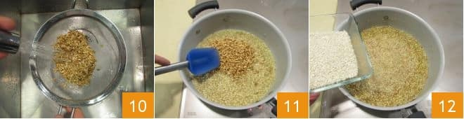 Riso orzo e farro in salsa di peperoni e tofu