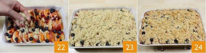 Crumb cake con frutta estiva