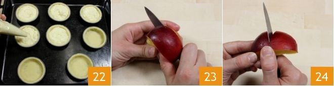Tartellette alle pesche e crema