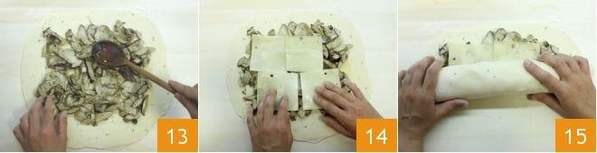 Strudel ai funghi porcini