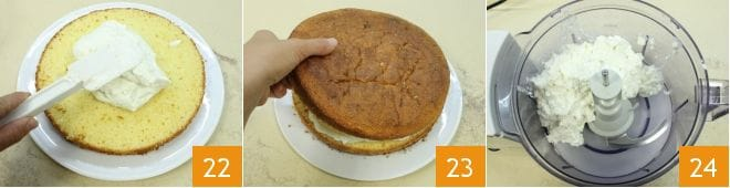Torta all'arancia con crema allo yogurt
