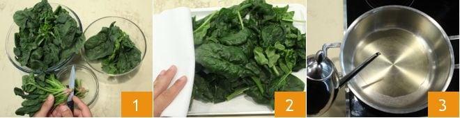 Flan di spinaci e taleggio