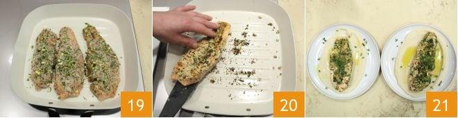 Salmone croccante su crema di cannellini