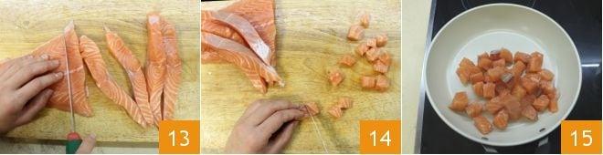 Insalata di spinaci con patate salmone e feta