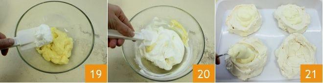 Mini pavlove con crema al limone