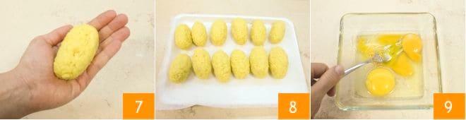 Crocchette di riso con provola e prosciutto cotto