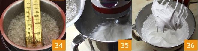 Tronchetto al caffè con meringa flambé