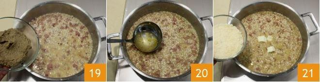 Risotto al cotechino, lenticchie e spumante
