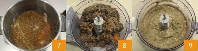 Millefoglie di cotechino e lenticchie