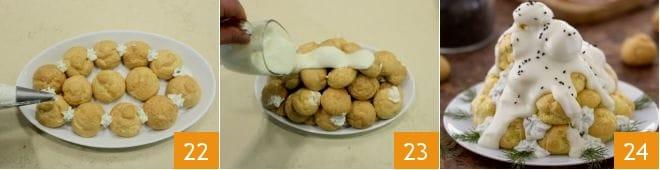 Profiteroles salati con crema al groviera