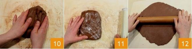 Biscottini al cacao e nocciole con confettura