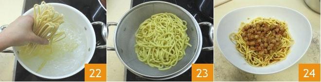 Spaghetti alla chitarra con le pallottine