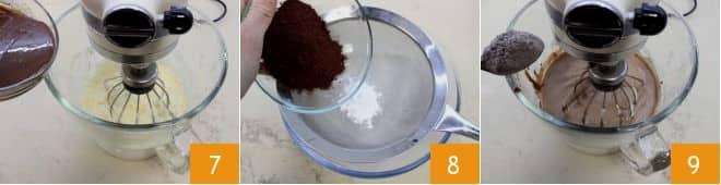 Crumb cake al cioccolato e ciliegie