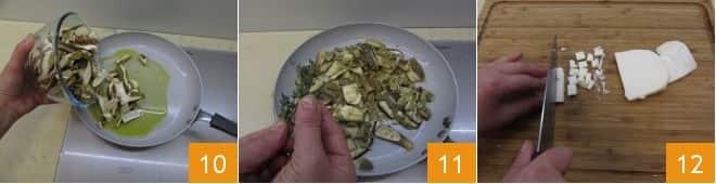 Terrine gratinate di polenta e funghi porcini