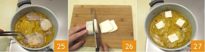 Braciole di maiale con crema di zucca e taleggio