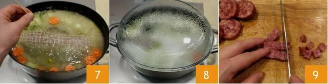 Vellutata di lenticchie con cotechino croccante