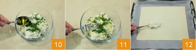 Sfogliata con cotto, ricotta e verdure