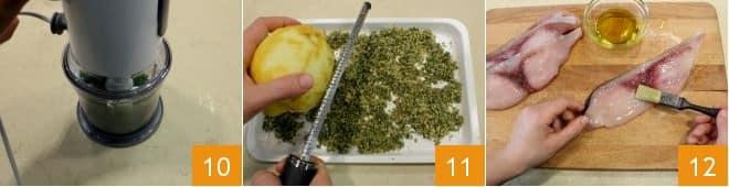 Spada in crosta con purea di topinambur