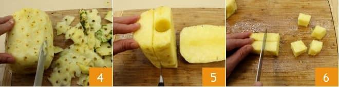 Spiedini di ananas e salmone al limone