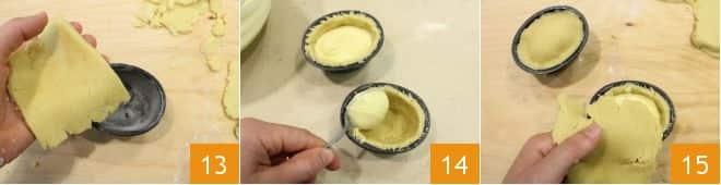Pasticciotti ricotta e crema di limone