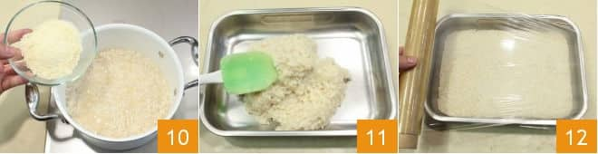Crocchette di riso con tonno e limone