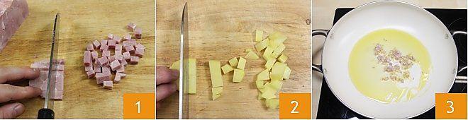 Pasta patate e prosciutto