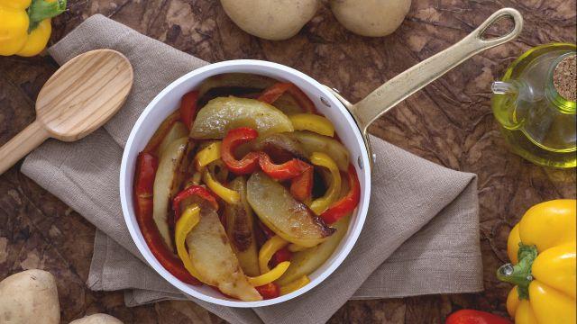 Patate e peperoni