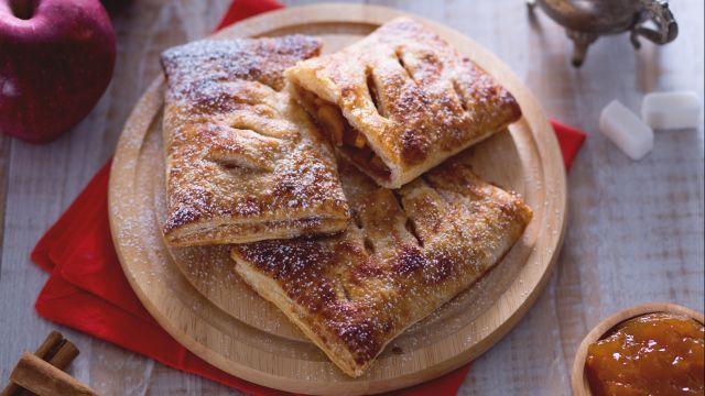 Fagottini di pasta sfoglia con cuore di mela