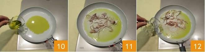 Riso venere con ciuffi di calamari e mazzancolle