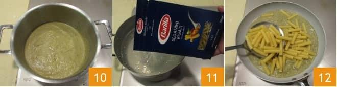 Sedanini rigati alla crema di carciofi