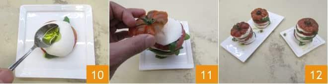 Caprese sfiziosa con salsa all'origano