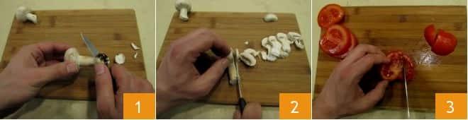 Quesadillas con funghi