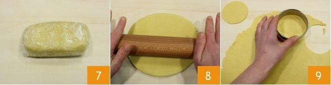 Faccine di frolla con cioccolato e marmellata