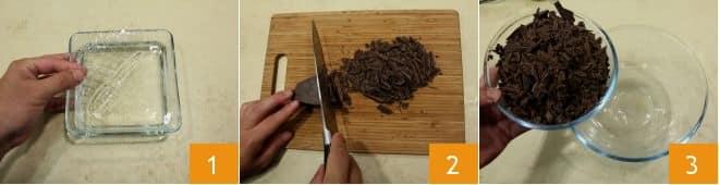 Mousse al cioccolato e aroma di vaniglia
