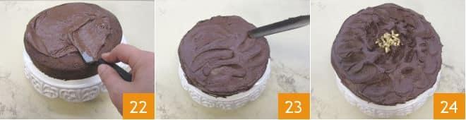 Torta di cioccolato e noci