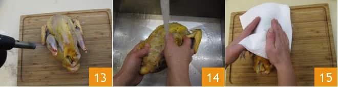 Faraona ripiena di castagne con salsa alla melagrana