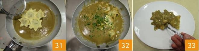 Ravioli al cotechino con salsa di lenticchie