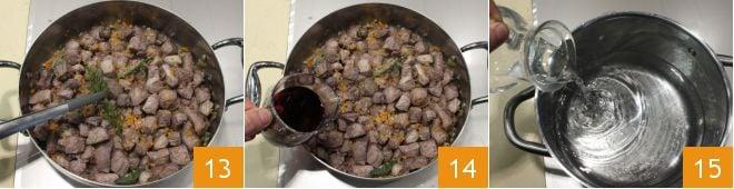 Spezzatino di cinghiale con polenta taragna