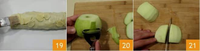 Strudel di maiale con mele al marsala