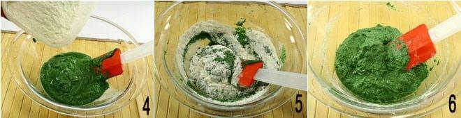 Spätzle di spinaci con speck e panna