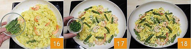 Pappardelle agli asparagi e gamberi