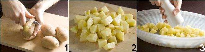 Branzino al forno con patate al limone